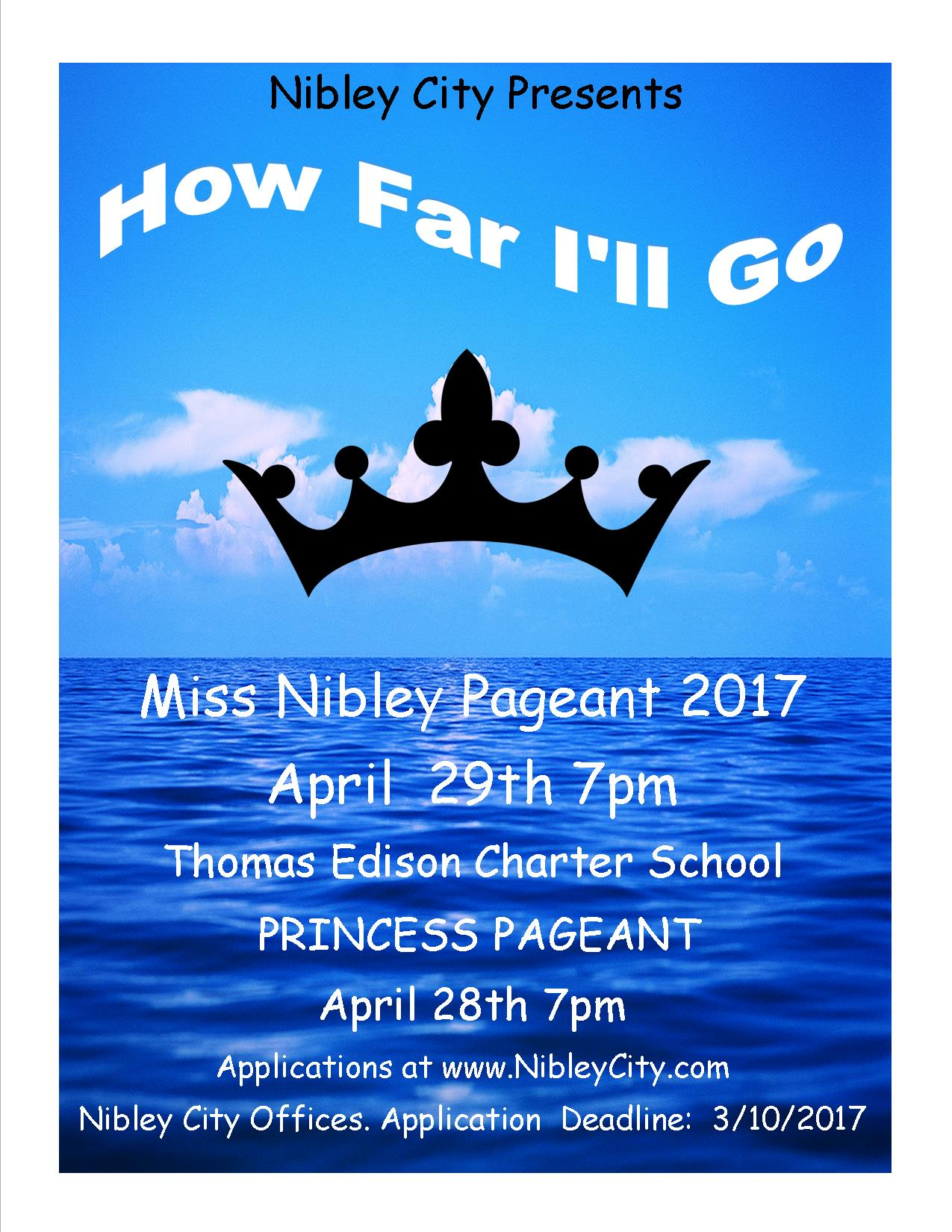 2017 Nibley Pageant Flyer