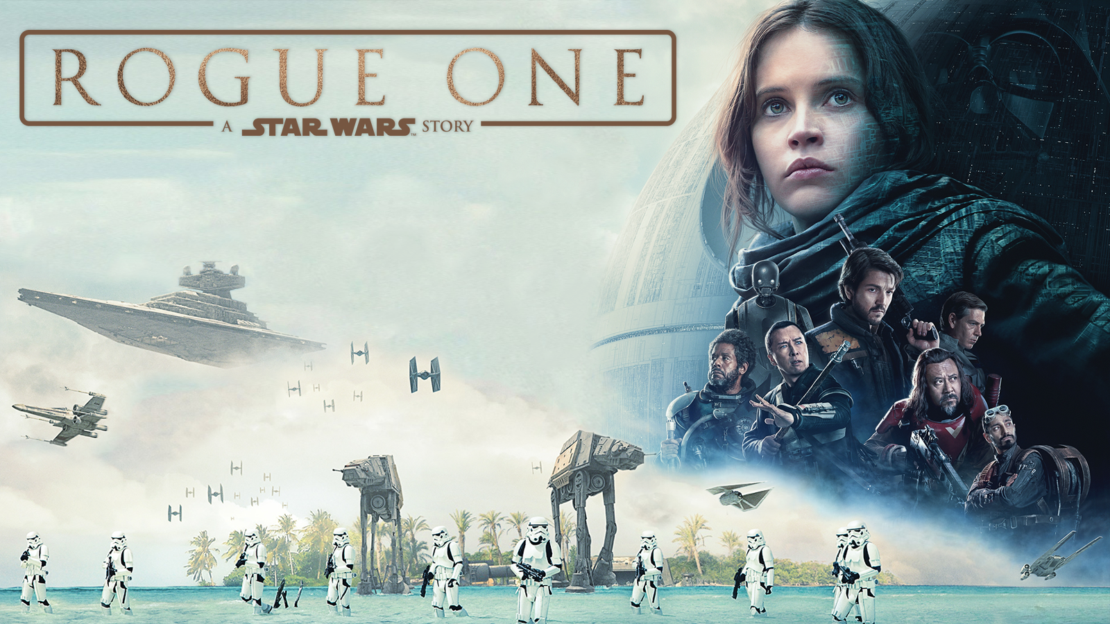 Rogue One Movie Poster with Beach