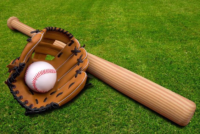 baseball glove bat
